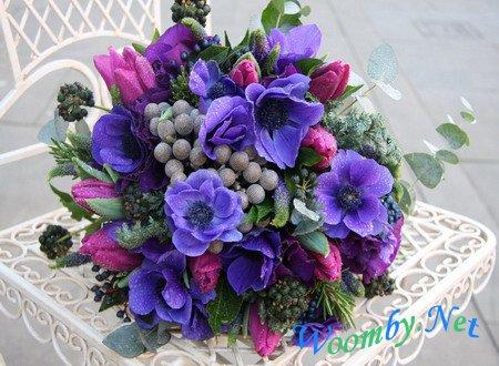 сочетание цветов в букете фото